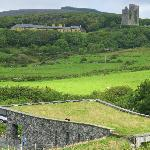 Doolin Cave : view from the nature trail across to Ballinalacken Castle