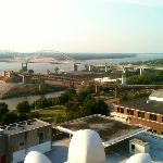 View of the Mississippi River from the 18th floor Penthouse Deck