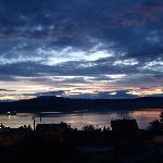 Pôr do sol em Puerto Natales