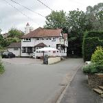 view of the pub from the road