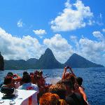 Joe Knows Tour, view of the Pitons, booked through Sandals