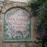 mosaic of hotel name.
