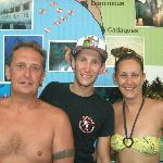 Us with Davis after completing our Advanced open water