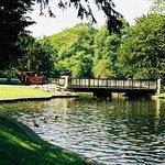 Lake within Pavilion Gardens