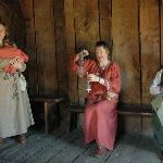 Anglo-Saxon Village - ladies presenting old life and occupations