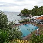 Pool with restaurant/bar