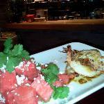 Wassermelonensalat mit Wildfanggarnele