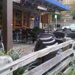 The patio at burgoo - heated for those cool evenings