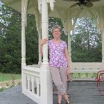 Pamela at Wellspring Retreat B&B's Gazebo