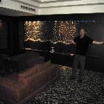 The lobby looks like a disco on Vegas