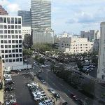 View from our 9th story room, Carondolet & Poydras.
