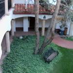 Courtyard of El Ray, looking down from room 68