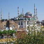 Blue Mosque from deck at daytime