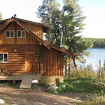Backside of cabin facing onto the lake.
