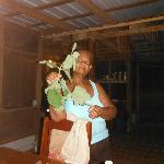 Desaree showing us Belizean Thyme