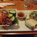 Chicken Caesar Wrap with Garden Salad