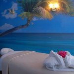 Relax in our beach design massage room