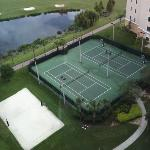 I love tennis and volley courts