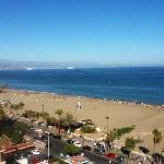 Uitzicht van uit het hotel met zicht op malaga