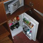 Safe and fridge