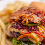 mouthwatering loaded burger