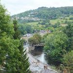 View of Matlock Bath from hotel grounds