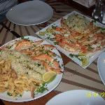Queen Prawn & Calamari + separate plate of Queen Prawns both with a Herb Rice.... *Heaven*