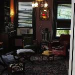 "Sitting room - comfortable and relaxing with great ""period"" music."