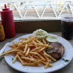 Great yellowtail, lots of fries