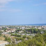 Vista desde Castelldefels a Barcelona (habitación)