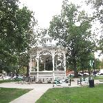 Front Window table looks to the Gazebo on Courthouse Square
