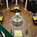 Birdseye view of Central Dining Area