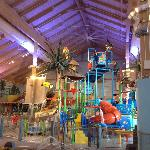 Center of water park