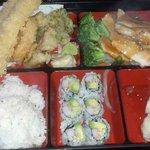 Chicken Teriyaki and Shrimp Tempura Bento Box.