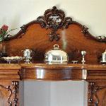 Breakfast Room - antique victorian sideboard