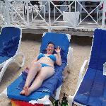 me relaxing on the beach at the royal decameron runaway bay