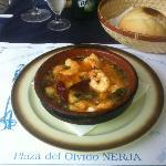 Gambas pil-pil (spicy prawns)