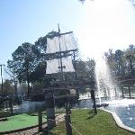 A Pirate Ship right in the middle of the course. :)