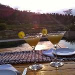 sunset martinis on our terrace