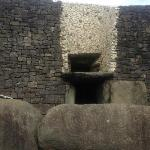 entrance door at newgrange site