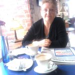 Me in the lovely cafe!