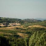 Uitzicht richting San Gimignano vanaf zwembad