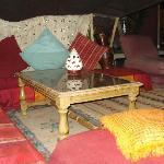 La tenda beduina sulla terrazza..