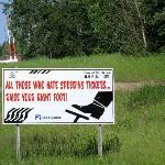 Highway speed warning, Fort Nelson - Alaska Highway