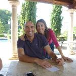 Antonio and Shelley. Owners of Castello Delle Serre