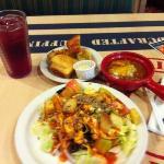salad and chili