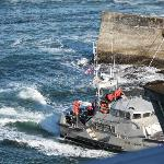 coast guard in and out of channel