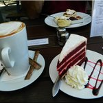 Red Velvet Cake and Coffee, Devonshire Tea