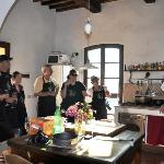 During the wonderful cooking class at The Lazy Olive