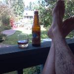 relaxing on the porch at The Apple Orchard Inn